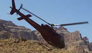 Take off helikopter  - Grand Canyon